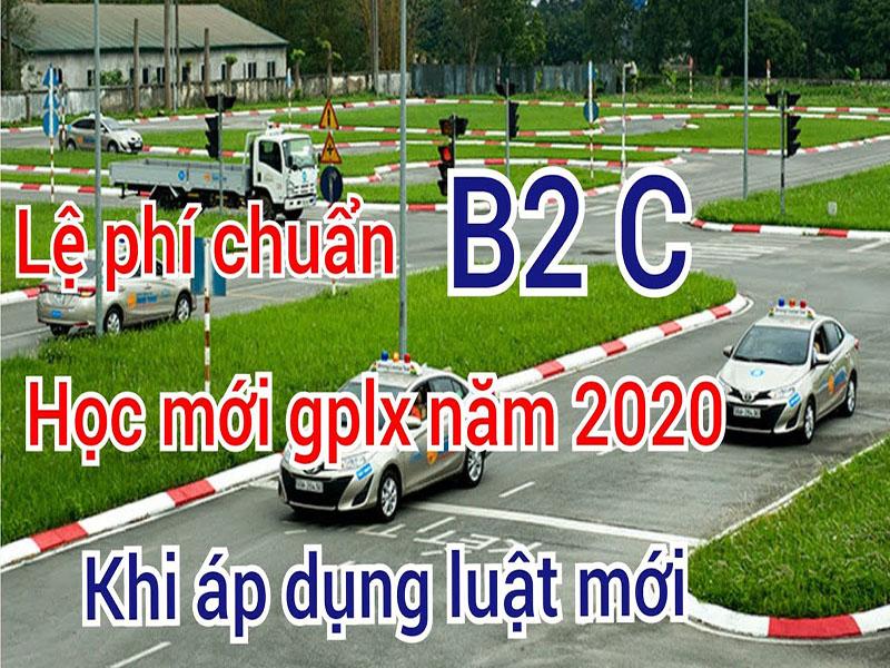 Học phí học lái xe ô tô năm 2020