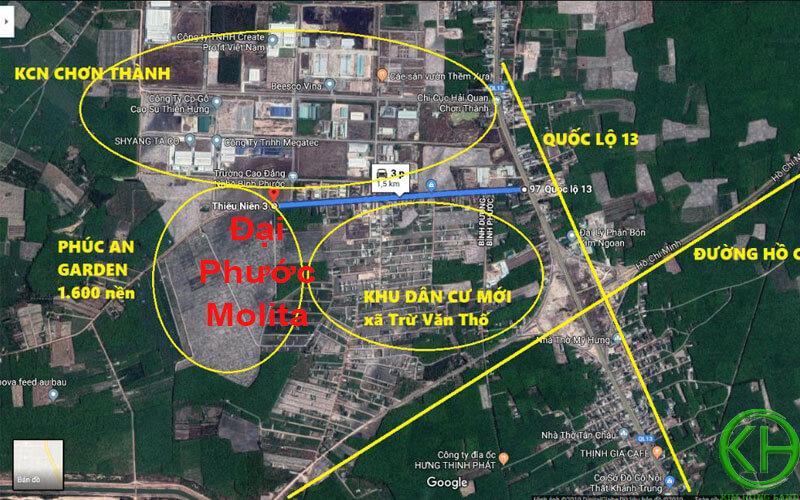 Vị trí dự án Đại Phước Molita