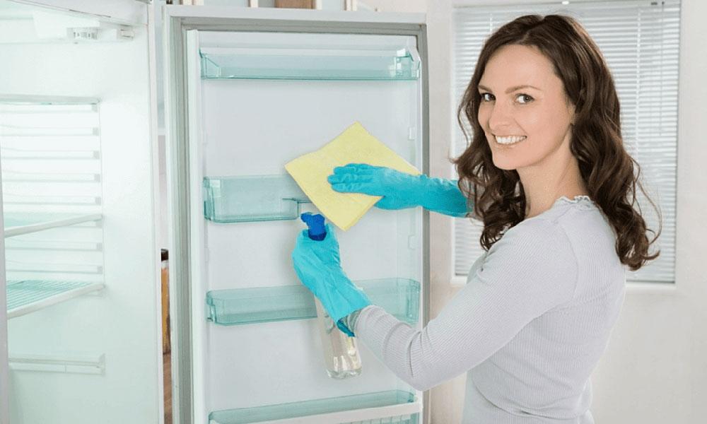 Lau khô, xịt khử khuẩn, khử mùi cho tủ lạnh