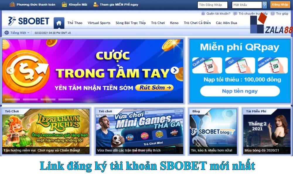 Link vào SBOBET không bị chặn mới nhất